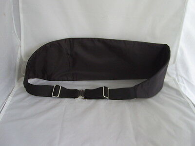"<Deal> Quality Mens 100% Silk BLACK Cummerbund> up to 48"" Waist>P&P2UK>1st Class 4"
