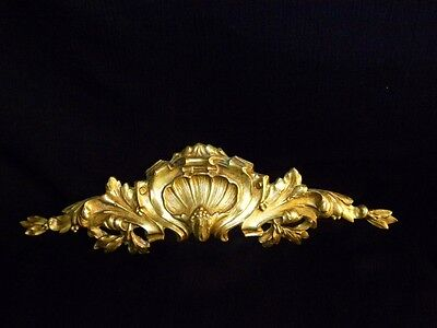 Superb Antique French Large Bronze Pediment Scroll 19 Th.c Napoleon III 2 • CAD $308.70