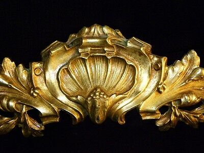 Superb Antique French Large Bronze Pediment Scroll 19 Th.c Napoleon III 5 • CAD $308.70