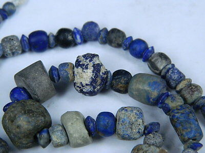 Ancient Lapis Lazuli Beads Strand Roman 200 BC   #BE2418 2