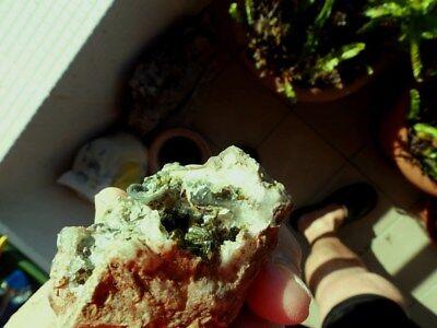 """Minerales """" Extraordinarios Cristales Arracimados De Epidota Marruecos - 10E18 """" 5"""