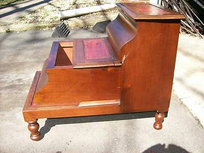 Antique Set Victorian Library / Bed Steps c.1870 5
