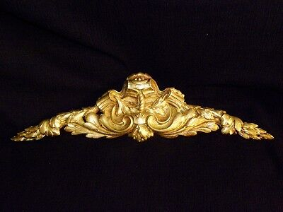 Superb Antique French Large Bronze Pediment Scroll 19 Th.c Napoleon III Louis XV