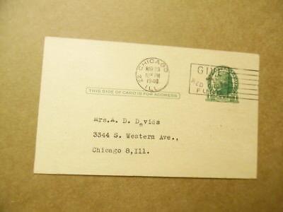 1942 William McDonald Roberts Bloodless Surgeon Reflexology Lecture Postcard 3