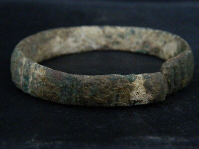 Ancient Bronze Bracelet Roman 200 BC #BR7465 3