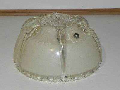 Vintage Light Globe, Ceiling Globe, Smaller Very pretty light tan beige & Clear 3