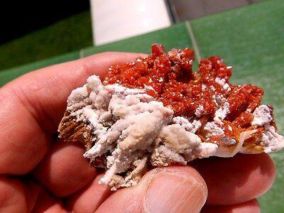 """Minerales """" Extraordinarios Cristales Rojizos De Vanadinita Marruecos - 8C16 """" 2"""