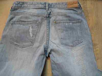 H&M coole skinny used destroyed Jeans blau Gr. 158 NEUw.  HS717 3