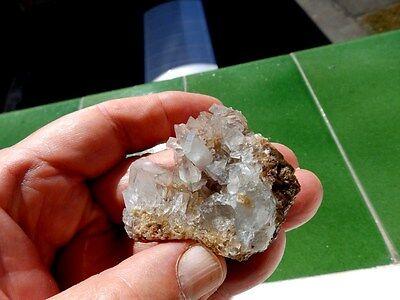 """Minerales """" Bonitos Cristales Biterminados De Celestina De Puente Tablas- 8D17 """" 3"""
