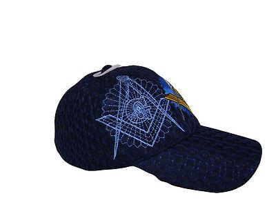 Mason Masons Freemason Masonic Royal Blue Shadow Trucker Mesh Texture Cap Hat