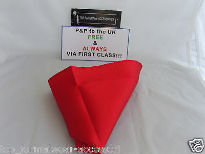 Red MENS Ruche-Wedding Polyester Cravat and Hankie-More Sets U Buy>More £ U Save 5