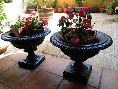 Jardineras De Hierro Fundido Antiguas Restauradas En Color Azul / Antique Fused 4