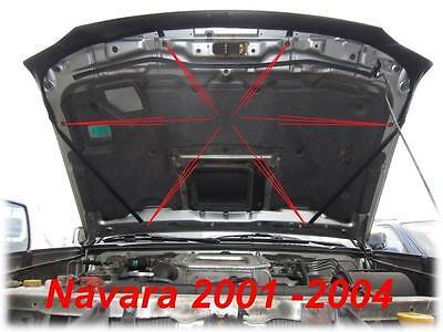 CARBON Optik Nissan Navara III Bj 04-15 BRA Steinschlagschutz Haubenbra