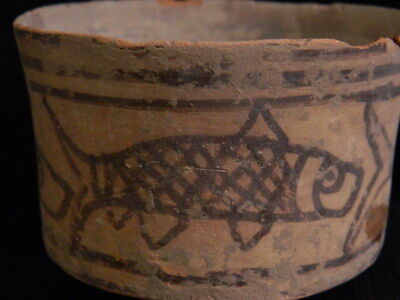 Ancient Large Size Teracotta Painted Pot With Fishes Indus Valley 2500 BC #CCH3 3