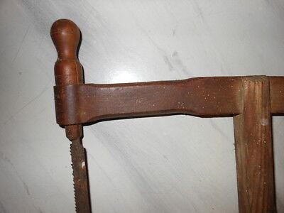 Alte Holz- Bügelsäge  für Sammler oder als Dekoration 65x31 cm 3
