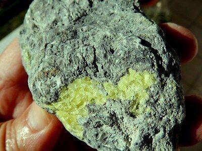 """Minerales """" Fantasticos Cristales De Azufre Nativo Laredo (Cantabria) -  5C16 """" 3"""