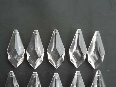 10 pretty large glass spear chandelier drops (D8686) 6