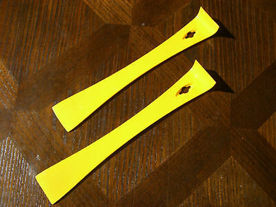 Beekeeping Stainless Steel Yellow Hive Tools x 2