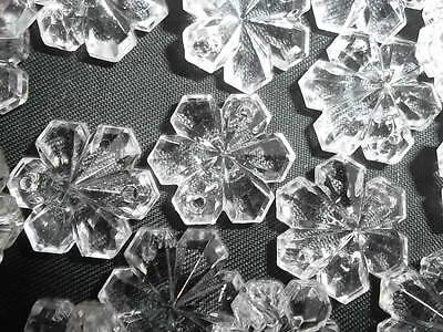 Pretty 50 16mm glass snowflake chandelier drops(D142) 4