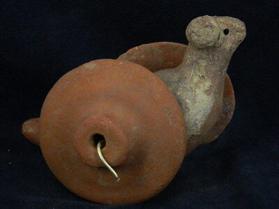 Ancient Teracotta Bird With Wheels Indus Valley 800 BC #TR8087 2