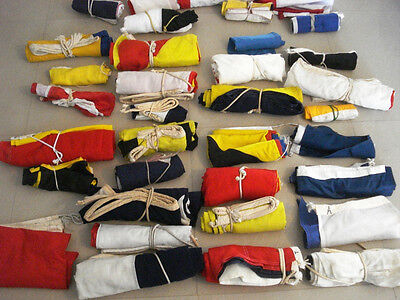 LOT OF 400 PIECES VINTAGE Naval Signal Pennants -  SHIP'S 100% ORIGINAL
