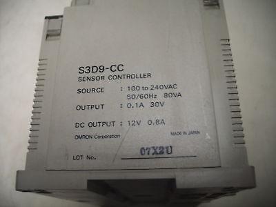 100-240V,15VA-IN 3A GROUND9 USED OMRON S3D-CKF S3D SENSOR CONTROLLER 250VDC