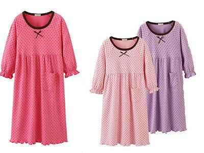 Girls Kids Children Pyjamas long sleeve Nightwear Cotton Night Dress Nightie 6