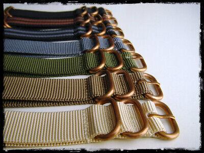Cinturini ZULU Bronze misure: 20-22-24. Nylon Zulu Straps. ENTRATE!!! 2