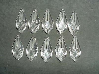 10 pretty large glass spear chandelier drops (D8686) 4