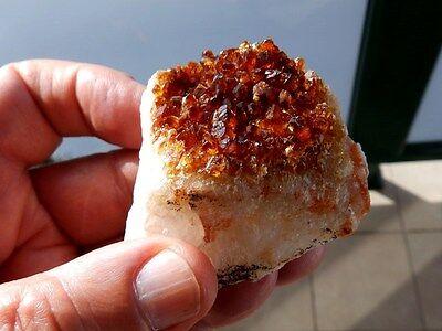 """Minerales""""Fantastica Drusa Qzo Citrino Con Bonitos Cristales De Brasil -  4B16 """" 3"""