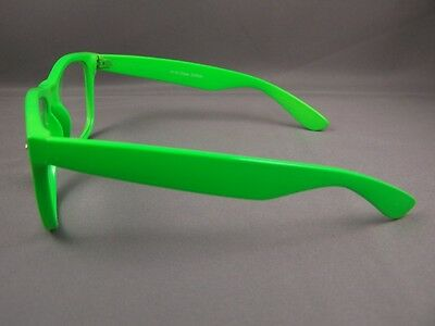 3eaf26136ad 2 of 4 Green frame Clear lens risky business retro 80s style sunglasses  glasses nerd 3 ...