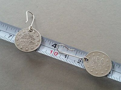 RARE Antique Silver Handmade 19th. Century from Year 1877-1293 Ottoman EARRINGS 7