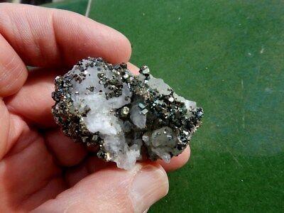 """Minerales """" Bonitos Cristales De Calcopirita De El Hamman  Marruecos - 12B17 """" 6"""