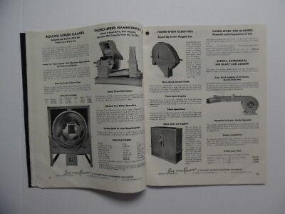 1950 BURROWS EQUIPMENT COMPANY Grain Elevator Feed Seed Plant Catalog Vintage VG