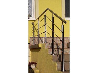 3m Edelstahl Geländer Bodenmontage Bausatz 300cm gerade