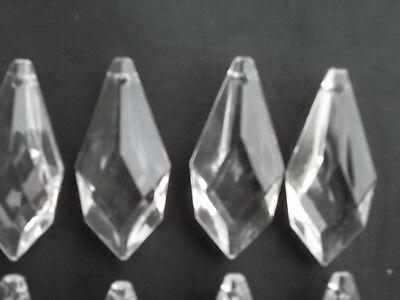 10 pretty large glass spear chandelier drops (D8686) 3