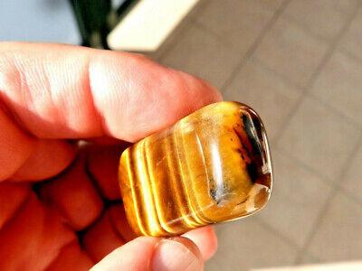 """Minerales"""" Bonito Mineral De Quarzo Ojo De Tigre Rodado De Sudafrica- 6B16 """" 5"""