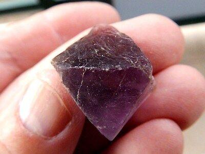 """Minerales """" Fabuloso Cristal Octaedrico De Fluorita De China  - 10F15 """" 2"""