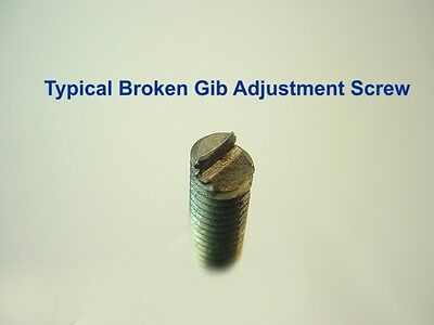 """New Gib Adjustment Screws for 9/"""" /& 10k South Bend Lathes Impossible to Find!!"""