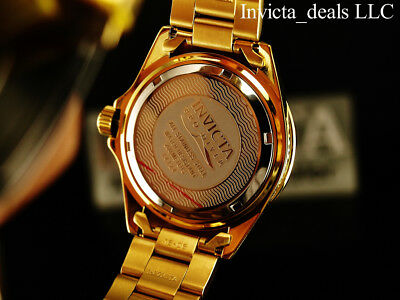 Invicta Mens 40mm Pro Diver Champagne Dial 18K Gold Plated Stainless Steel Watch 9