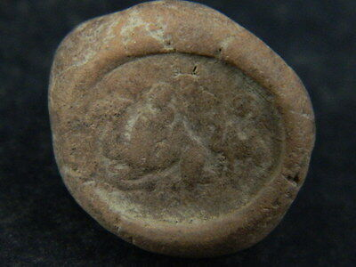 Ancient Teracotta Seal Bactrian C.300 BC #TR879 5