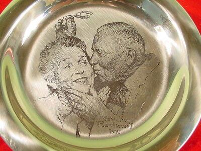 Norman Rockwell Sterling Silver Franklin Mint Plate 1971 Under the Mistletoe 2
