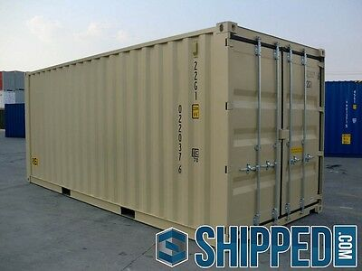 NEW 20FT DOUBLE DOOR SHIPPING CONTAINER SECURE STORAGE in Los