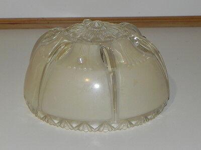 Vintage Light Globe, Ceiling Globe, Smaller Very pretty light tan beige & Clear 8