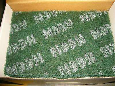 "10- Green Coarse 6"" x 9"" WET DRY Scuff Pad KEEN Brite 55025"