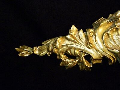 Superb Antique French Large Bronze Pediment Scroll 19 Th.c Napoleon III 7 • CAD $308.70