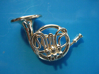 2 Of 6 French Horn Miniature   Hat Pin , Tie Tac , Lapel Pin , Hatpin (PGFH