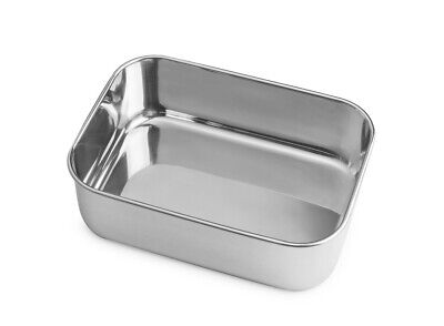 Brotzeit -  Lunchbox aus Edelstahl mit Silikondeckel - dicht verschliessbar - 2