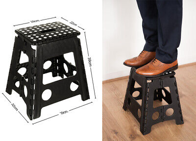 Multi Purpose Plastic Folding Step Stool Home Kitchen Easy Storage Foldable Seat 11