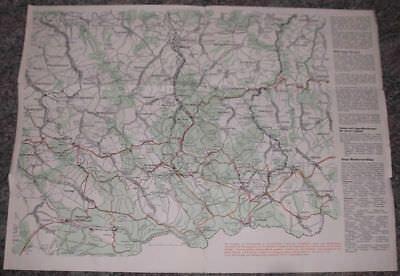 1954 Werbeblatt Östliches Erzgebirge mit Landkarte Faltblatt*7783